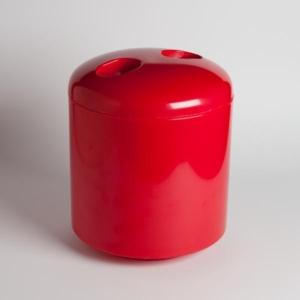 Piros kerek jégvödör